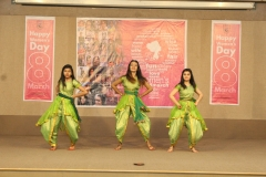 An energetic thematic dance act by students