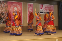 Traditional garba dance by students