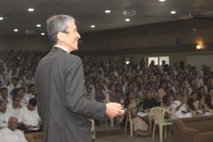 Dr. Harish Madhyastha University of Miyazaki delivering the guest lecture.